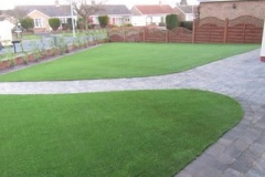Two large Astro turfed areas