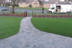 Astro Turf to both sides of garden