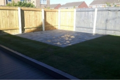 Composite decking and patio