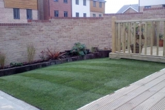 Timber Railed Decking Area