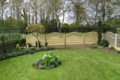 Decorative waved fence panels