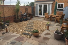Sandstone Staggered Paving