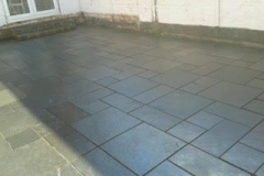 Sealed Black Limestone paving